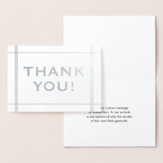 """Bold Silver Foil """"THANK YOU!"""" Card"""