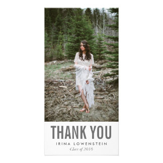 Bold Simple Graduate Thank You Custom Photo Card