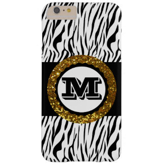 Bold & Sophisticated Wild Life Gold Black & White Barely There iPhone 6 Plus Case