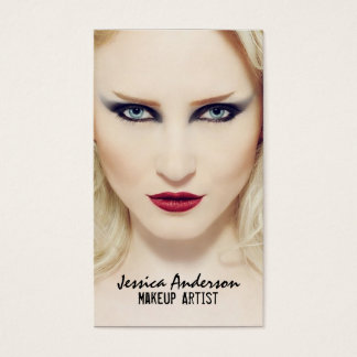 Bold Statement Makeup Artist Business Card