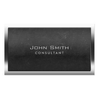 Bold Steel Border Chalkboard Consultant Double-Sided Standard Business Cards (Pack Of 100)