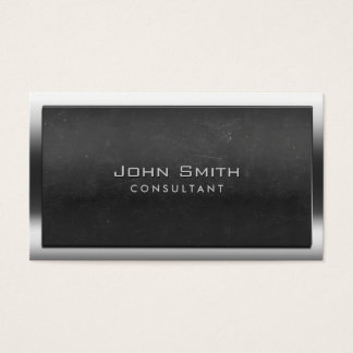 Bold Steel Border Chalkboard Consultant Business Card