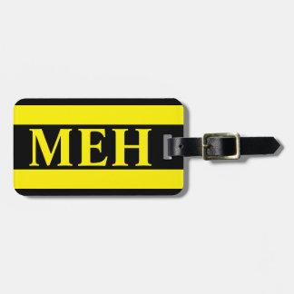 Bold Stripe Yellow Monogrammed Luggage Tag