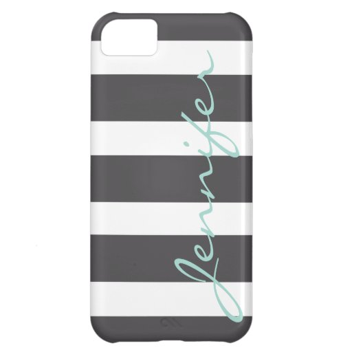 Bold Striped iPhone 5 Barely There Case | Charcoal iPhone 5C Cover
