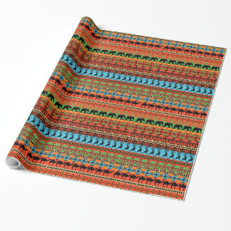 Bold Striped Pattern Ethnic Gift Wrapping Paper
