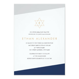 Bold Stripes Bar Mitzvah Card