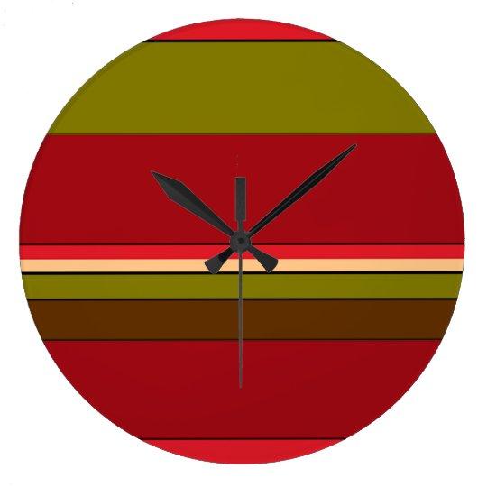 Bold Stripes Clock
