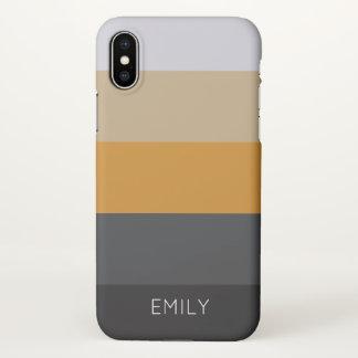 bold stripes custom trendy modern iPhone X case