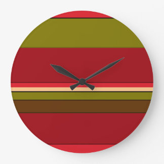Bold Stripes Large Clock
