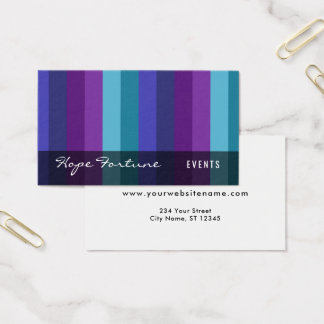 Bold Stripes: Purple, Raspberry, Teal, 01 Business Card