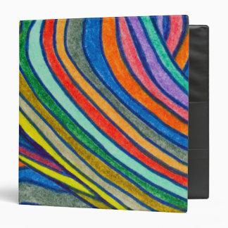 Bold Stripes Vinyl Binder
