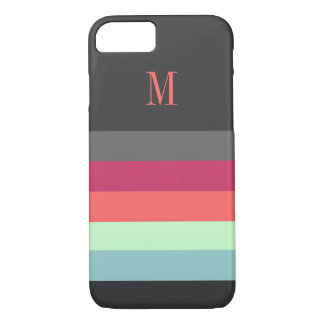 Bold Stripes with Monogram iPhone 7 Case