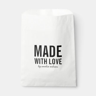 Bold Stylish Made with Love Favour Bag