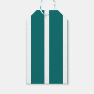Bold Teal Stripe Gift Tags