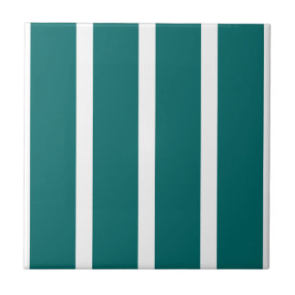 Bold Teal Stripe Tile