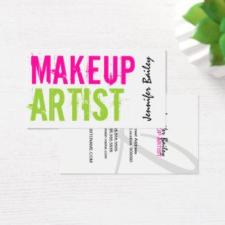 Bold Text Makeup Artist Business Card