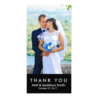 Bold Thank You Photo Card | WEDDINGS