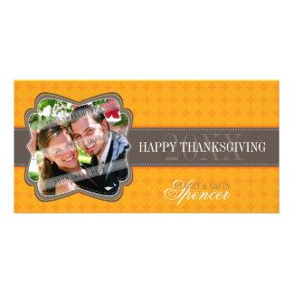 BOLD THANKSGIVING PHOTOCARD :: decorativeband 7 Photo Card Template