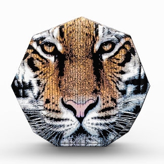 Bold Tiger Portrait Graphic Press Style