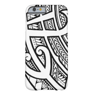 Bold tribal tattoo Island design with spearheads Barely There iPhone 6 Case