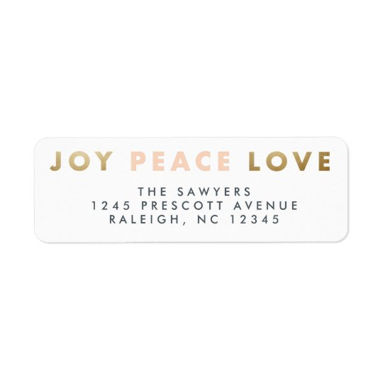 Bold type holiday address label