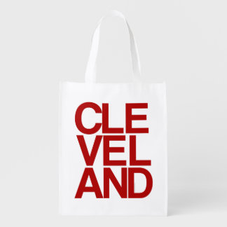 Bold Typographic Cleveland Souvenir Reusable Grocery Bag