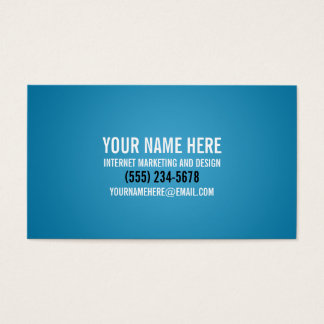 Bold Typographic Cyan Business Card