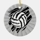 bold volleyball graphic ornaments
