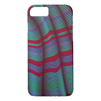 bold wavy abstract-red and blue iPhone 7 case