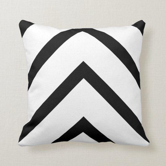 Bold White Chevron Throw Pillow