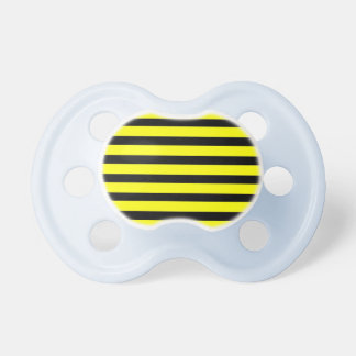 Bold Yellow and Black Bumble Bee Striped Pattern Pacifier