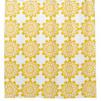 Bold Yellow Floral Pattern White