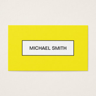 Bold yellow minimalist trendy business card