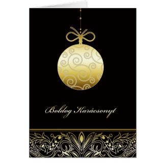 boldog Karácsonyt, Merry christmas in Hungarian Card