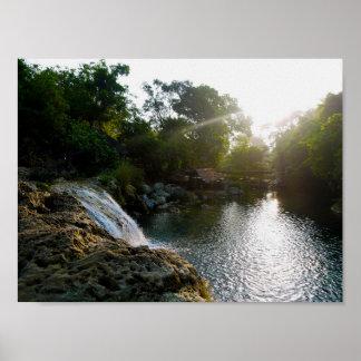 Bolinao Falls Sunrise Poster