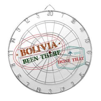 Bolivia Been There Done That Dartboard With Darts