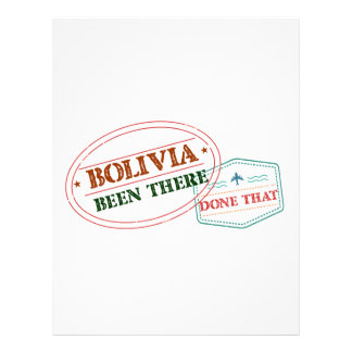 Bolivia Been There Done That Letterhead
