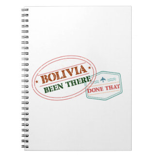 Bolivia Been There Done That Notebook
