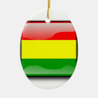Bolivia - Bolivia Ceramic Oval Ornament
