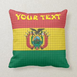 Bolivia Bolivian Flag: ADD TEXT Throw Pillow