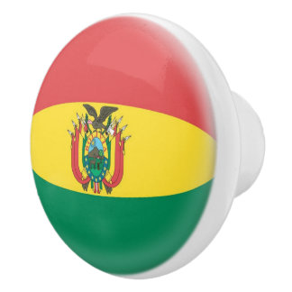 Bolivia Bolivian Flag Ceramic Knob