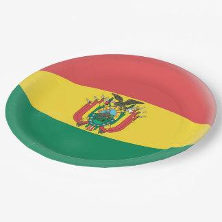 Bolivia Bolivian Flag Paper Plate
