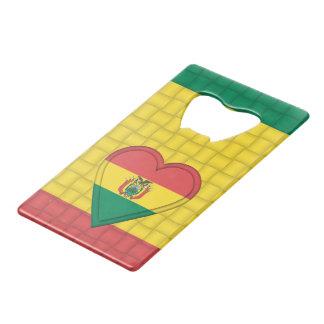 Bolivia Bolivian Flag Wallet Bottle Opener