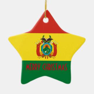 BOLIVIA CERAMIC STAR ORNAMENT