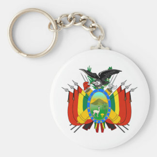 Bolivia COA Keychain