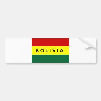 bolivia country flag text name bumper sticker