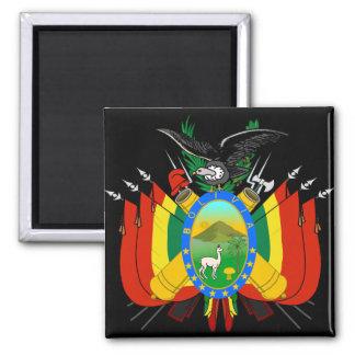 bolivia emblem square magnet