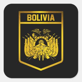 Bolivia Emblem Square Sticker