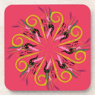 Bolivia ethno Mandala art. Original drawing Coaster