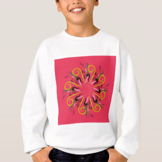 Bolivia ethno Mandala art. Original drawing Sweatshirt